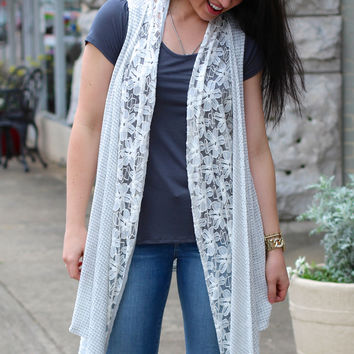 Layered in Lace Vest {Heather Grey}