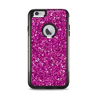 The Bright Pink Glitter Apple iPhone 6 Plus Otterbox Commuter Case Skin Set