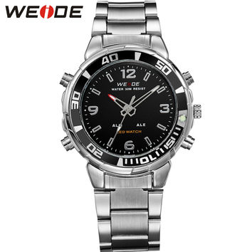 Top Luxury Men's Sports Watches LED Digital Quartz Dual Movement Multi-Functional Water Resistant New Watch