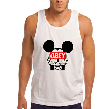 Mickey Mouse Obey Men Tank Top