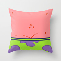 Funny Patrick Star  Throw Pillow by neutrone