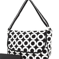 Black and White Messenger Diaper Bag with by Spoolofplenty on Etsy