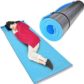 Yoga sport mattress picnic camping mats 180*50*0.6cm ZYD029 (Color: Blue) = 1932697604