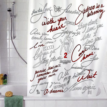 "fall in love the week christmas gift, Custom Shower curtain, Sizes available size 36""w x 72""h 48""w x 72""h 60""w x 72""h 66""w x 72""h"