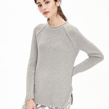 Banana Republic Womens Link Stitch Sweater Pullover