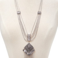 Etched Statement Necklace | Forever 21 - 1000171643