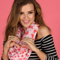 Sale-red Heart You To Infinity And Beyond Scarf