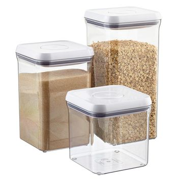 "Set of OXO Good Grips 6"" Square POP Canisters"
