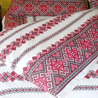 """Bedding sheet set """"Tracement"""" with duvet cover."""