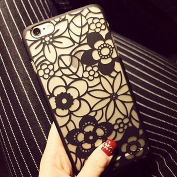 Hollow Out Floral iPhone 7 se 5s 6 6s Plus Case Cover + Gift Box-170928