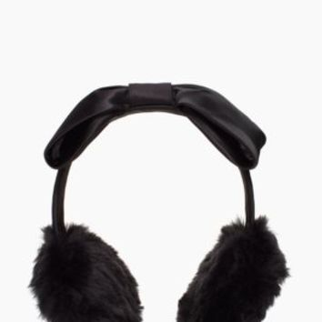 Kate Spade Fur Earmuff With Bow Headband