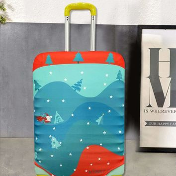 Cartoon Pattern Stretchable Luggage Cover 22-24inches