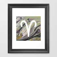 ARIES Framed Art Print by KJ Designs
