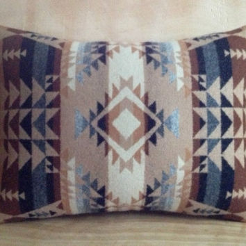 Wool Pillow  Pendleton Wool Fabric  Native by RobinCottage on Etsy