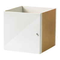 EXPEDIT Insert with door - high gloss white - IKEA