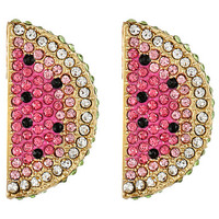 Betsey Johnson Ocean Drive Pink Watermelon Button Earrings Pink Multi - Zappos.com Free Shipping BOTH Ways