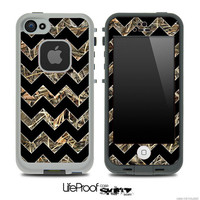 The Max Camo Under Black Chevron Skin for the iPhone 4 or 5 LifeProof Case