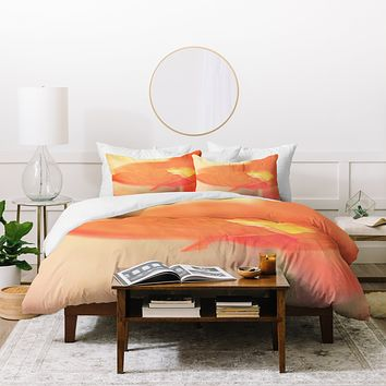 Bree Madden Orange Bloom Duvet Cover