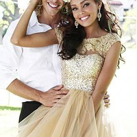 Buy discount Lovely Tulle & Sequin Lace A-line Short Homecoming Dress at Dressilyme.com