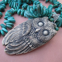 The Owl Collector Turquoise Necklace by lunalove on Etsy