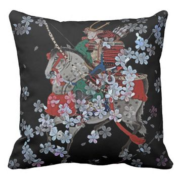 "Samurai Throw Pillow, Throw Pillow 20"" x 20"""