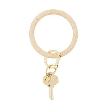 O-Venture: Gold Confetti Silicone Big O Key Ring