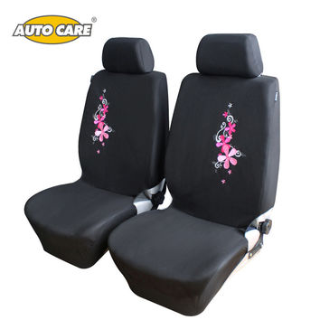 AutoCare 2016 New Flower Embroidery Car Seat Cover Universal Fit 9PCS and 4PCS Pink Car Interior Car Styling Car Seat Protector