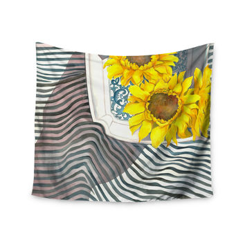 "S. Seema Z ""Finall Sunflower"" Yellow Flower Wall Tapestry"