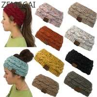 CC Beanie Hat Headwrap Cap Knitted Crochet Ear Warmers Women Sports Skullies Caps Fashion Headwear Hats Outdoor Knit Beanies Cap