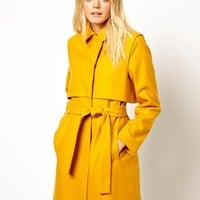 Just Female Wool Belted Coat