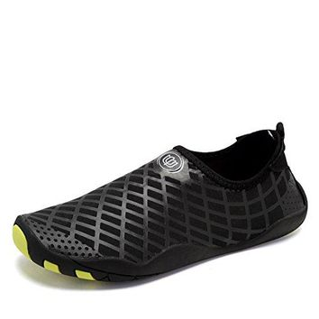 CIOR Water Shoes Men Women Aqua Shoes Barefoot QuickDry Swim Shoes with 14 Drainage Holes for Boating Walking Driving Lake Beach Garden Park YogaSYY04lgBlack38
