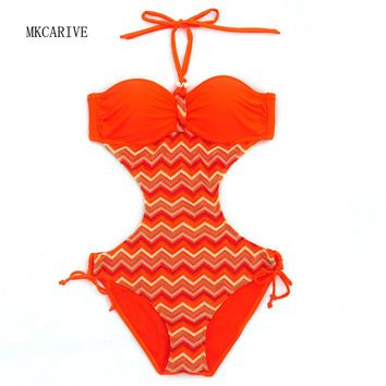 MKCARIVE  New Sexy 1 one piece swimsuit Backless swim suit for women Swimwear Bathing suit swim wear female