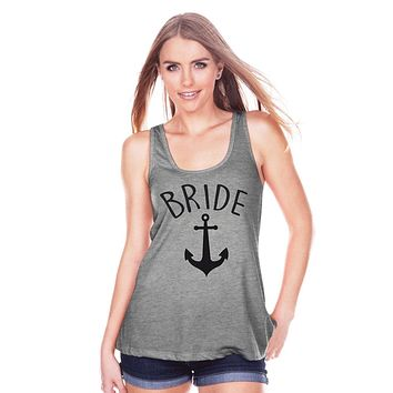 7 ate 9 Apparel Women's Nautical Bride Tank Top