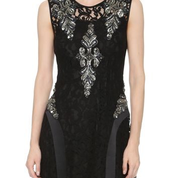 Crystal Accent Lace Dress