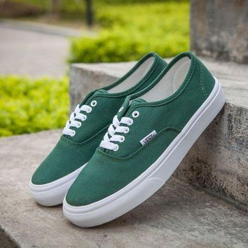 NOV9O2 Vans Authentic Green Sneakers Casual Shoes