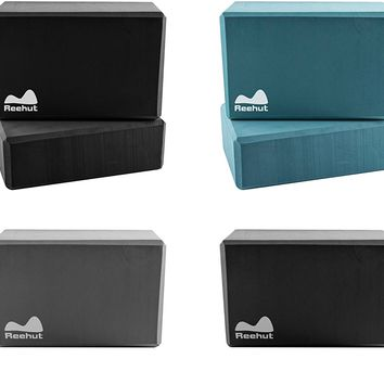 Yoga Block (1 or 2 PCs)  High Density EVA Foam Block to Support and Deepen Poses