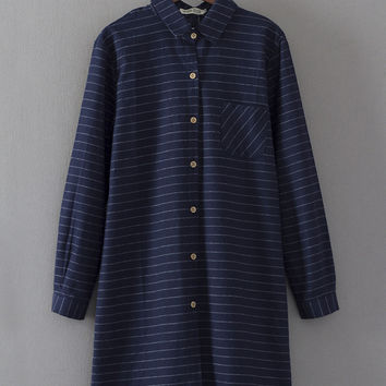 Boyfriend Dress Korean Plus Size Shirt [8541318535]