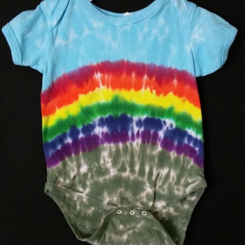 Pick A Size | Infant / Baby Tie Dye Rainbow Onesuit
