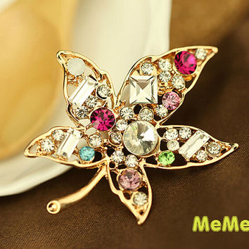 1 Piece Leaf Luxury Bling Crystal Alloy Kawaii Accessories Pandent Charm Cabochon Deco Den on Craft Phone Case DIY Deco kit AA1218