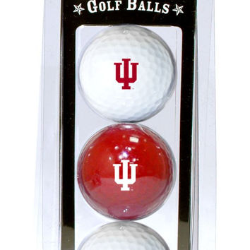 Indiana Hoosiers 3 Pack of Golf Balls