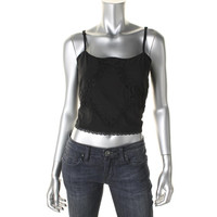 Impulse Womens Juniors Cotton Cropped Tank Top