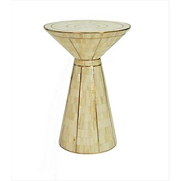 Worlds Away Zuri Bata Shaped Accent Table