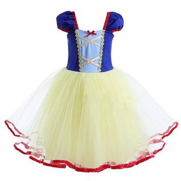 Baby Toddler Girls Children Snow White Princess Fancy Dress Costume Fairy Tale Party TUTU Dresses Cosplay Halloween Clothes