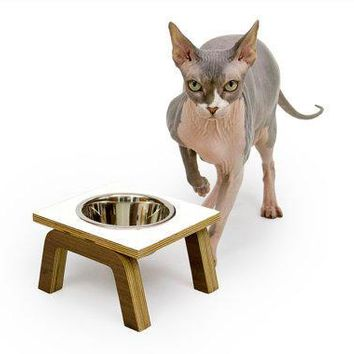 Spring Sale   15% Off   Century Modern Elevated Pet Feeder // Six Retro Colors // Cat & Dog Dishes