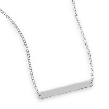 Kalie Thin Bar Necklace