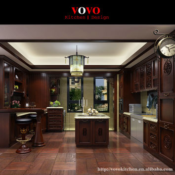 China made kitchen design solid wood