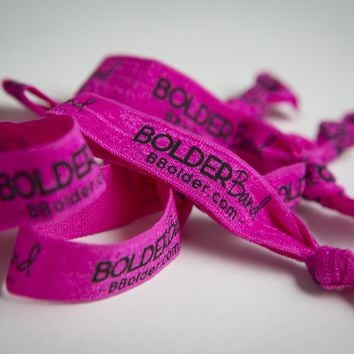 6 Pack Pink Bolder Band Hair Tie
