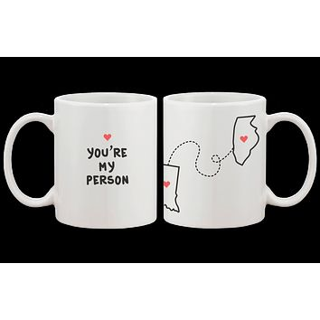 [Custom] You're My Person Long Distance Relationship Mug Set
