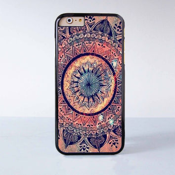 "Mandala plastic phone case for iPhone 6 (4.7"")  More case style can be selected"