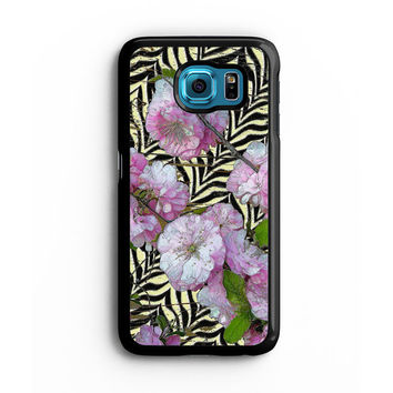 Funky Zebra & Prunus Samsung S6 s5 s4 S3 Case, Note 3 4 5 Case, iPhone 6s 5s 5c 4s Cases, iPod case, HTC case, Xperia Z3 case, LG G3 Nexus case, iPad cases